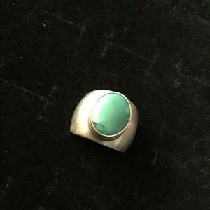 Heavy 925 Mexico turquoise ring
